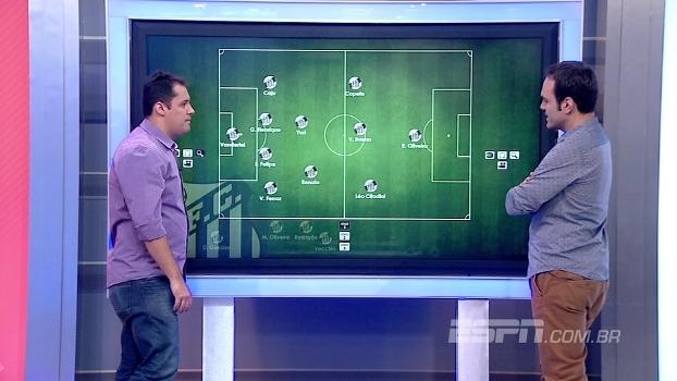 Com Vecchio no meio, Fellipe Camargo 'escala' Santos na Copa do Brasil