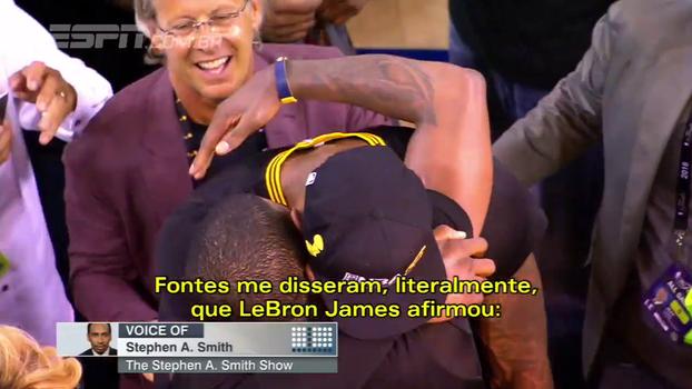 Comentarista da ESPN diz que LeBron ficou furioso com Kyrie e está tentado a 'chutar o traseiro dele'