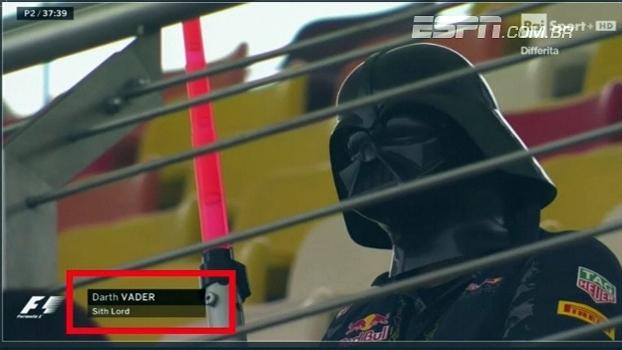 Darth Vader marca presença em treino para o  GP da China de Formula 1