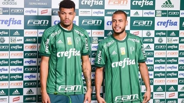 Zagueiro Juninho e lateral-direito Mayke são apresentados no Palmeiras
