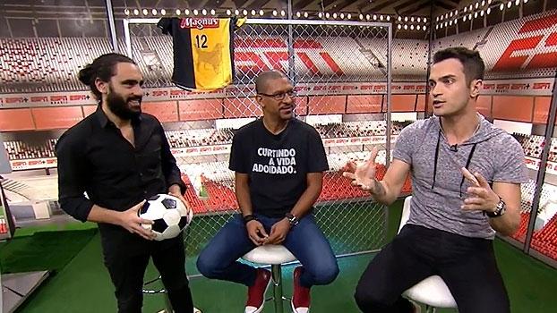 Proximidade com Riquelme e provocações na infância; Falcão conta no 'Resenha ESPN'