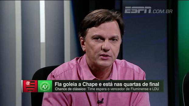 Mauro elogia atuação do Flamengo e destaca números de Cuéllar: 'Fez um quase jogo perfeito'