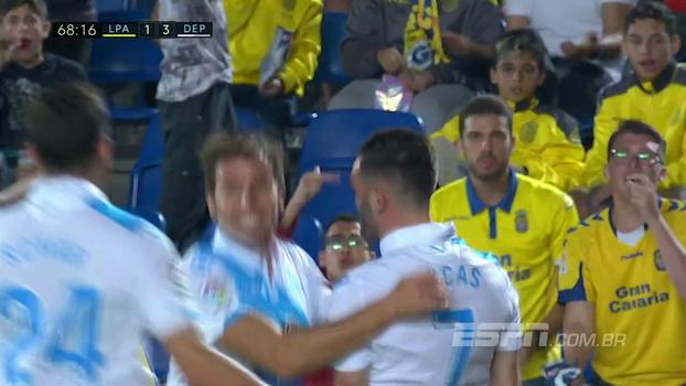 Assista aos gols da vitória do Deportivo La Coruña sobre o Las Palmas por 3 a 1!