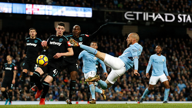 Veja os melhores momentos da vitória do Manchester City sobre o West Ham por 2 a 1 pela Premier League