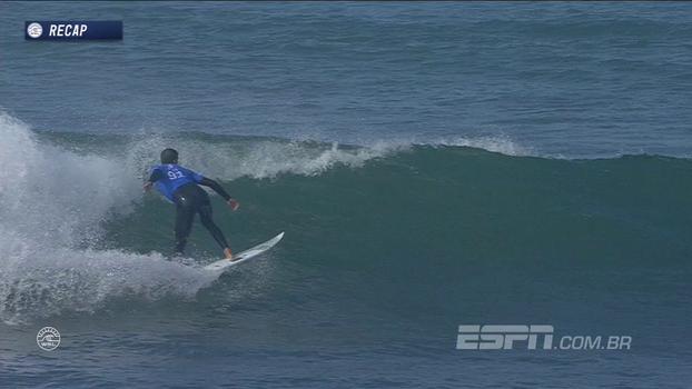 Em Trestles, Miguel Pupo protagoniza bela onda e impressiona comentaristas: 'Soltou o surfe!'