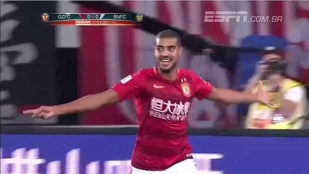 Brasileiro Alan faz dois e Guangzhou Evergrande vence time de Ramires
