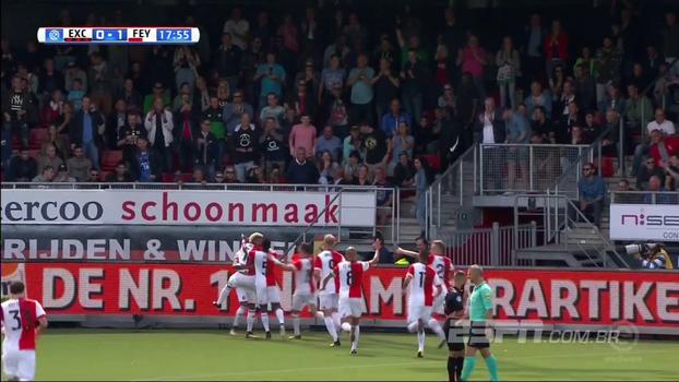 Atual campeão holandês, Feyenoord vence Excelsior fora de casa