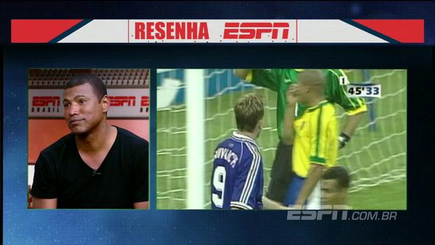 Júnior Baiano relembra fatídica final da Copa de 98 e relata irritação de Edmundo: 'Ele ficou p***, muito p*** mesmo'