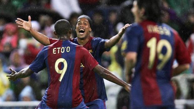 Gols de Eto'o, Messi, Ronaldinho, Iniesta... Barcelona 'absurdo' enfiou seis no Atlético de Madri em 2007