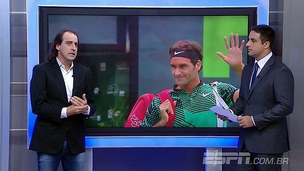 Meligeni, sobre momento de Federer: 'Está chegando em todas as bolas, parece um menino'