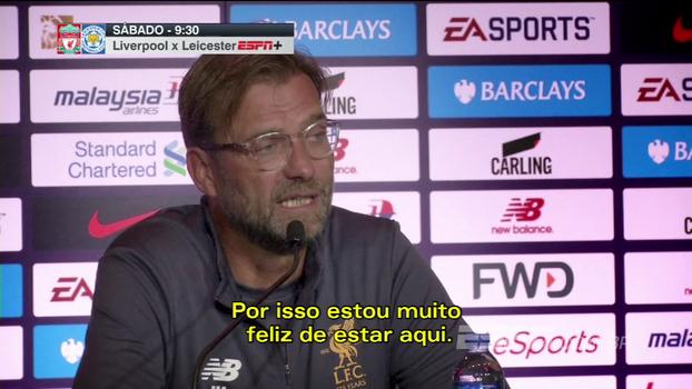 Klopp elogia disposição de jogadores em treino debaixo de chuva antes de final contra o Leicester: 'Eu adorei'
