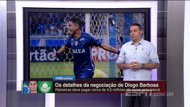 Eduardo de Meneses dá detalhes do acerto entre Diogo Barbosa e Palmeiras; veja