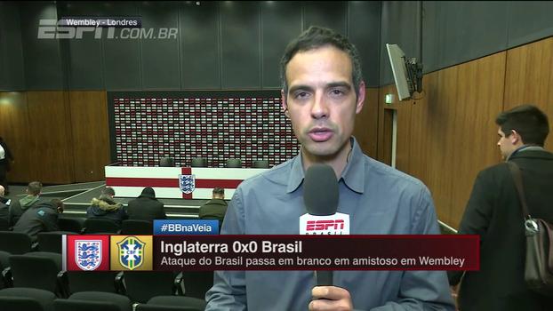 João Castelo Branco relata clima em Wembley durante Inglaterra x Brasil e analisa: 'No fim, não foi um grande jogo'