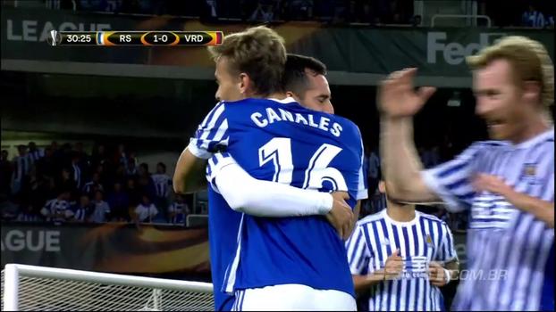 Assista aos melhores momentos da vitória do Real Sociedad sobre o Vardar Skopje por 3 a 0!