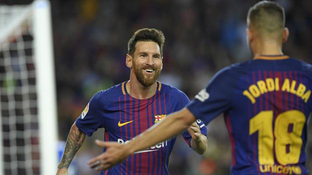 Hat-trick! Veja os três gols de Messi contra o Espanyol!