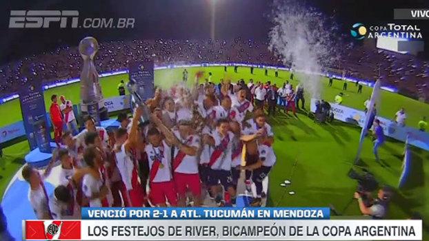 River Plate venceu o Tucumán e sagrou-se campeão da Copa da Argentina; veja os gols