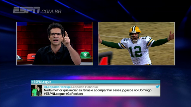 Para Paulo Antunes, Aaron Rodgers é sim o salvador da pátria do Green Bay Packers