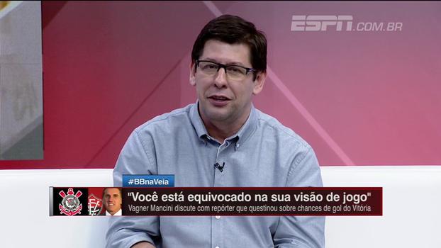 Celso Unzelte vê repórter vítima de 'tecnicismo e numerismo' e comenta atrito entre Vagner Mancini e repórter