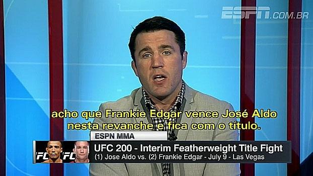 Sonnen: 'Frankie Edgar vence Aldo e fica com o título' no UFC 200