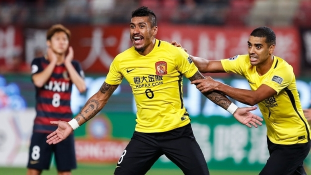 Veja os gols de Paulinho e Ricardo Goulart pelo Chinês neste sábado