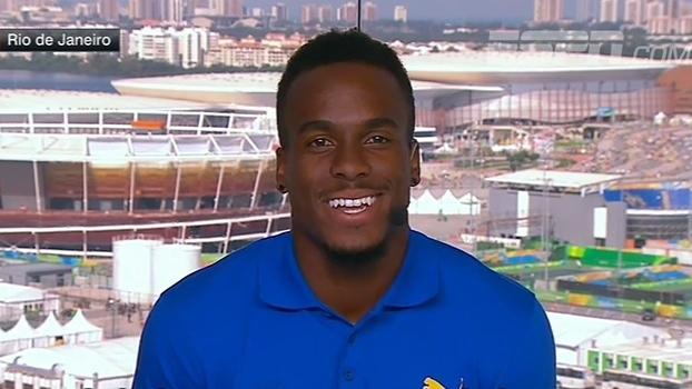 Ex-jogador da NFL que disputou 100m rasos no Rio diz que preparação para ambos esportes é parecida