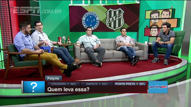 Comentaristas do BB Debate dão palpites para Cruzeiro x Ponte Preta