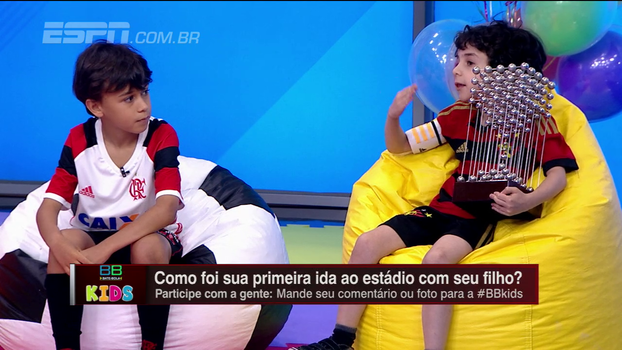 Com a Taça das Bolinhas, pequeno torcedor do Sport brinca: 'A taça deles é de isopor'