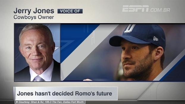 Jerry Jones vê Romo no Super Bowl e não garante Dak Prescott titular do Dallas Cowboys; veja