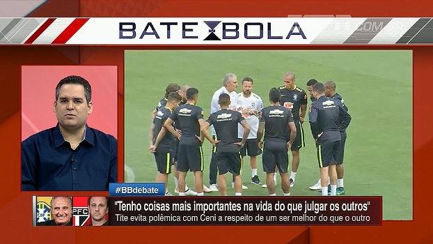 Bertozzi pede fim de 'polêmica Rodrigo Caio' e fala sobre a confiança de Tite no atleta