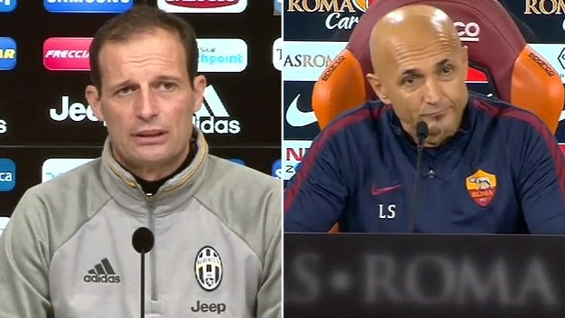 Allegri diz que a Roma dá poucas oportunidades; Spaletti: 'Queremos diminuir a diferença'