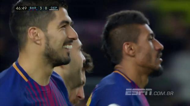 Coisa linda! Veja como Paulinho participou do 'tiki taka' no terceiro gol do Barcelona