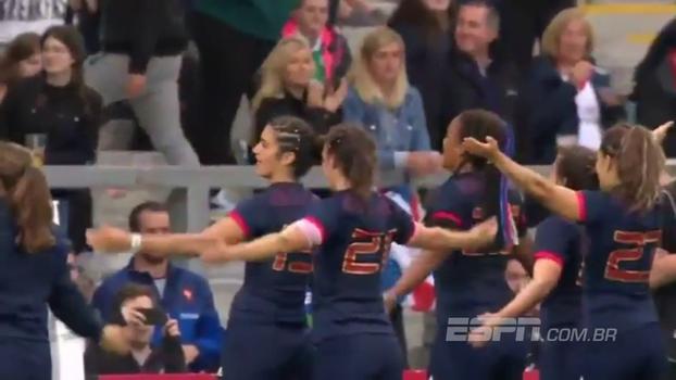 Que festa! Mesmo com 3º lugar, time feminino de rugby da França é ovacionado pela torcida