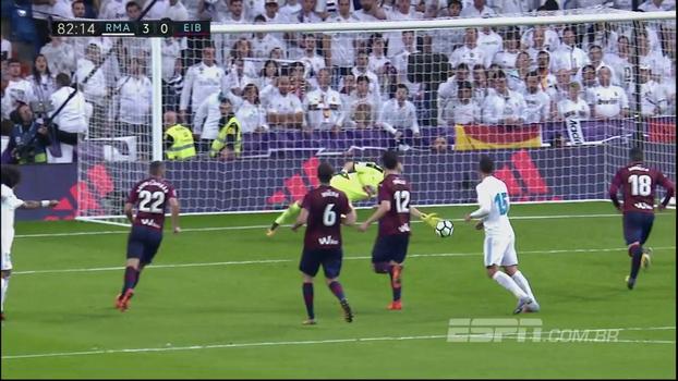 Veja os gols de Real Madrid 3 x 0 Eibar