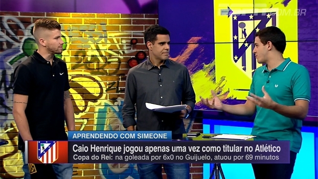 Caio Henrique explica como precisou mudar estilo de jogo ao ir para o Atlético: 'Mais intensidade'
