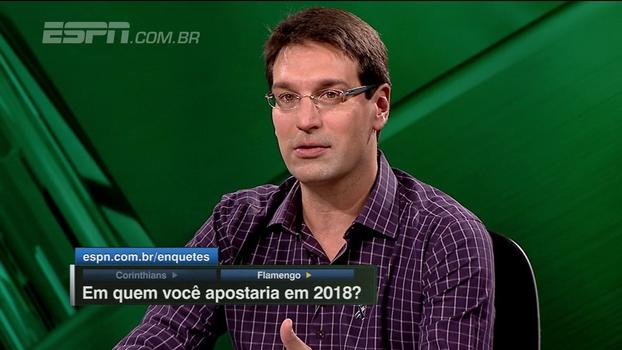 Arnaldo apostaria mais no Flamengo que no Corinthians em 2018: 'As perspectivas de melhora são maiores'