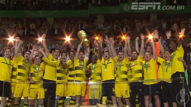 Veja os melhores momentos da vitória do B. Dortmund sobre o E. Frankfurt por 2 a 1 na DFB-Pokal