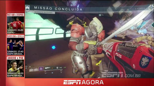 Gameplay de Destiny 2 e nova edição do Multiplayer! Confira o resumo de eSports no ESPN Agora