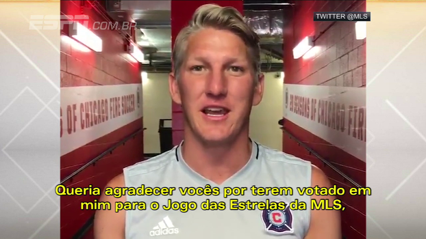 Schweinsteiger agradece votação para capitão do Time das Estrelas da MLS para a partida contra o Real Madrid