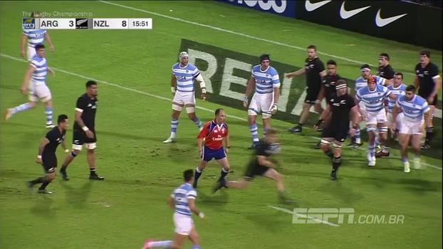 'All Blacks' passeiam pra cima da Argentina e fazem 34 x 10 no 'Rugby Championship'