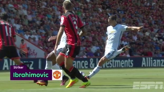 7a4b1a8756 Premier League elege gol de Ibra na estreia como o  Momento da 1ª Rodada