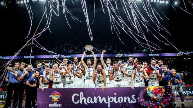 Veja lances da vitória da Eslovênia sobre a Sérvia por 93 a 85 pela final do Eurobasket