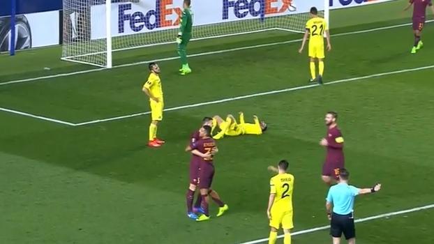 Tempo real: GOL da Roma! Dzeko recebe de Nainggolan e completa o hat-trick
