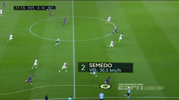 Cuidado com o radar! Veja a velocidade que novo lateral do Barcelona alcança em arrancada