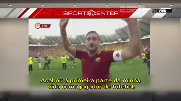 'O futebol é tudo pra mim', Totti fala sobre paixão pelo esporte e novo cargo na diretoria da Roma