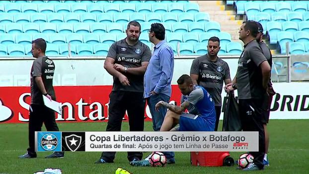Bibiana Bolson mostra como foi a preparação de Botafogo e Grêmio para duelo decisivo
