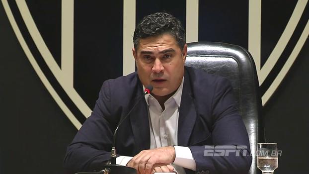 Novo presidente do Atlético-MG fala de prazo curto para planejamento, mas garante: 'Vamos qualificar o grupo'
