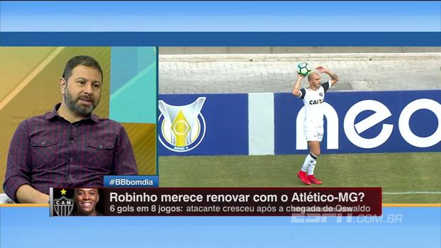 Robinho ou Fred? Comentaristas do BB Bom Dia usam redução salarial do Atlético-MG para debater quem merece ficar