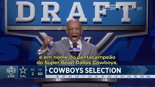 Com vaias e resposta a altura, ex-Cowboys anuncia escolha do draft de seu ex-time; veja