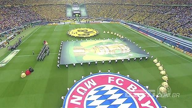 Veja cerimônia de abertura da final da Copa da Alemanha e linda festa das torcidas nas arquibancadas