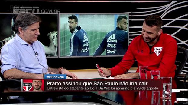Assinou e cumpriu: Lucas Pratto garantiu que São Paulo não cairia durante o 'Bola da Vez'